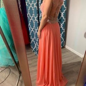 Tiffany Designs Dresses - NWT Tiffany Designs coral prom or pageant gown